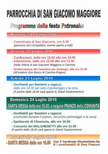 Festa patronale Carcina