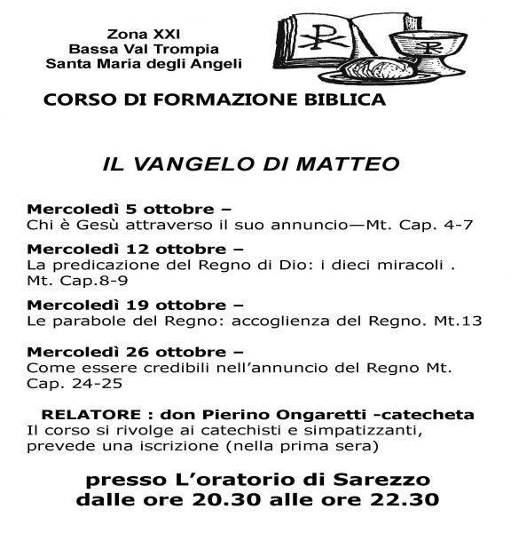 Volantino corso catechisti