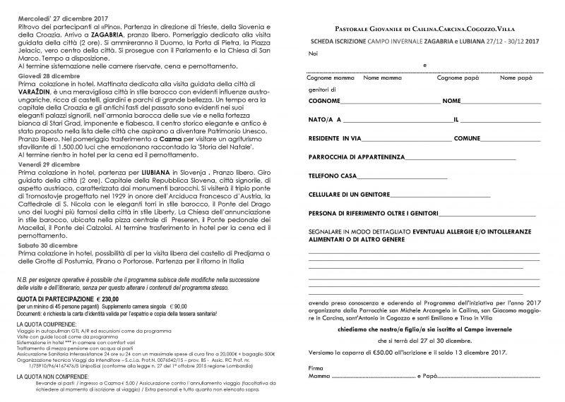 Iscrizione Zagabria3 dicembre