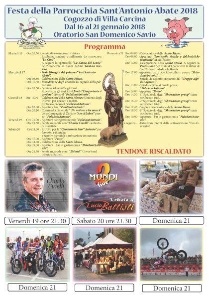 Manifesto Sant'Antonio 2018 - Chiesa