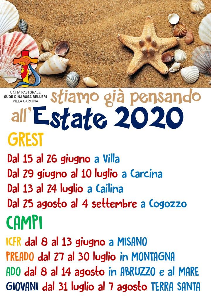 Estate 2020 ...date