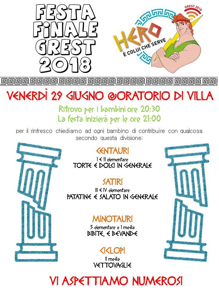 FESTA FINALE_GREST di VILLA