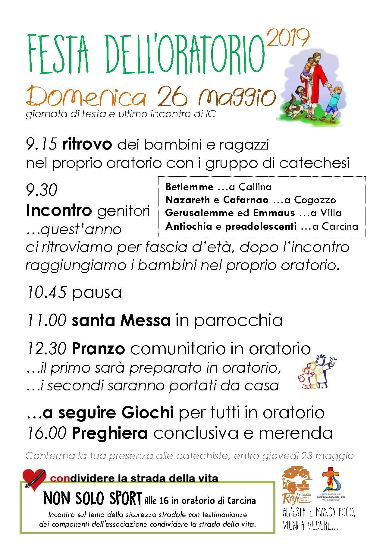 Locandina fine Catechesi maggio2019