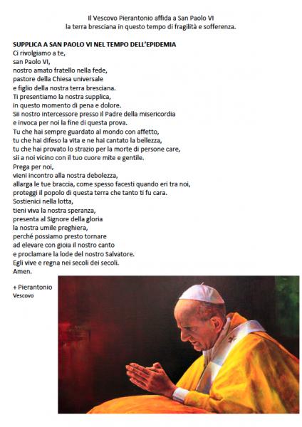 Il Vescovo Pierantonio affida a San Paolo VI
