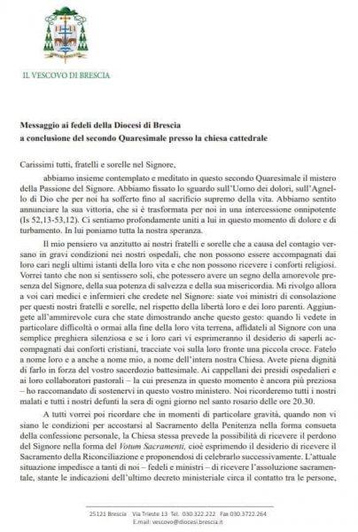 lettera vescovo 13 marzo pag1